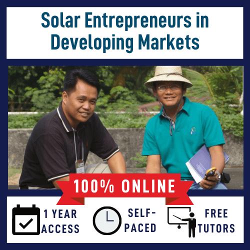 Solar Entrepreneurs course