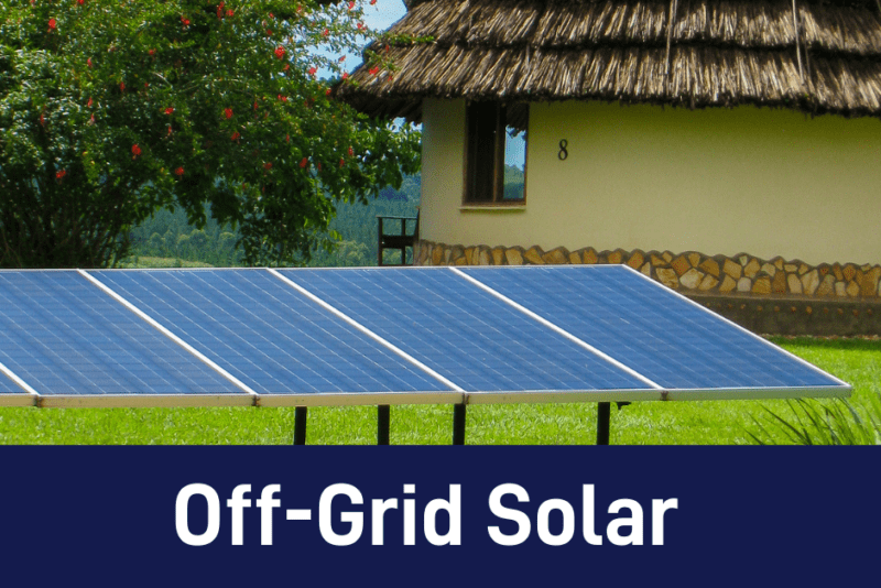 Off- Grid Solar system shown for online solar courses